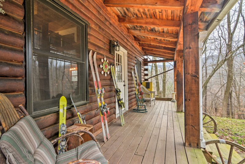 Escape to the mountains when you stay at this 3-bed, 2-bath vacation rental cabin in Little Valley!