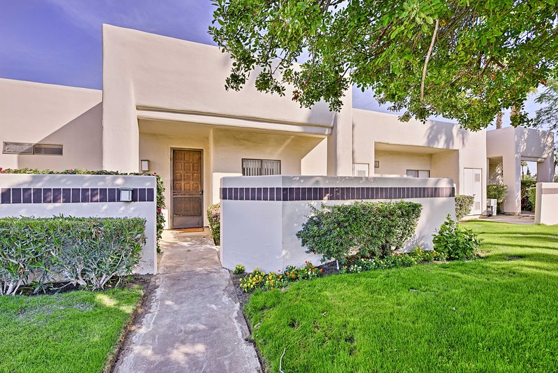 Relax and recharge when you stay at this 2-bed, 2-bath vacation rental condo in Cathedral City!