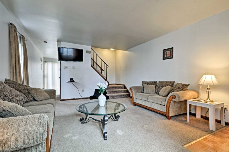 This home boasts cozy accommodations for up to 6 guests!