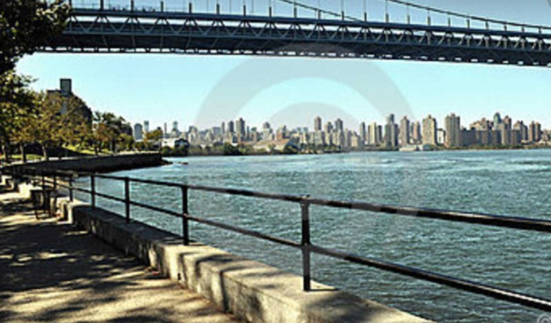 View of Triboro Bridge and Manhattan skyline as seen from waterfront in my neighborhood!