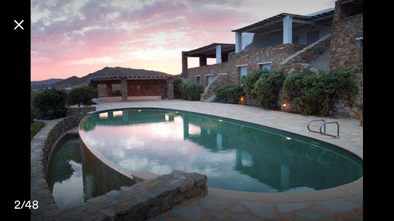 Lia Beach Villa, holiday rental in Kalafatis