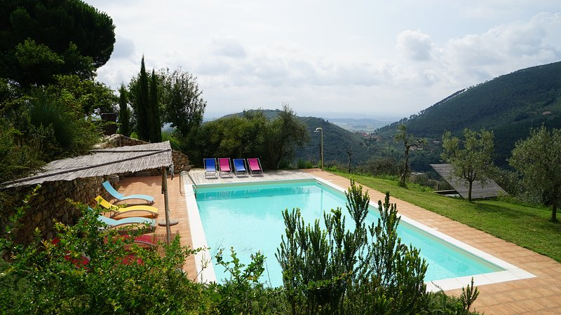 Private villa (8 bedrooms) private pool, great view, large kitchen. Lots to do.., holiday rental in Bientina