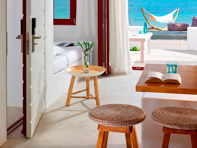 L'area salotto che offre vista sulla spiaggia !!