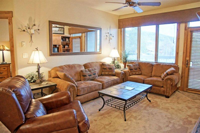 Comfortable Living Room includes a sleeper sofa