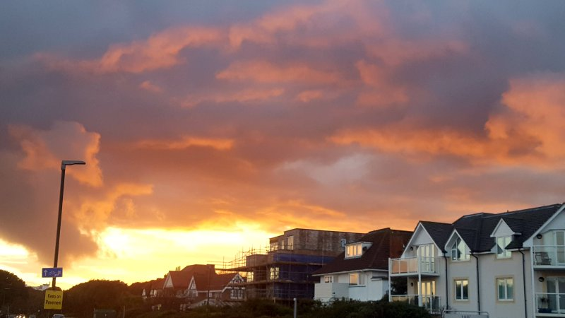 Magnificent sunset at Southbourne beach
