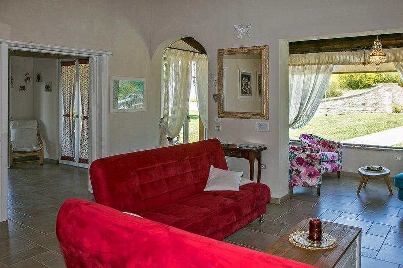 Bright living room and veranda