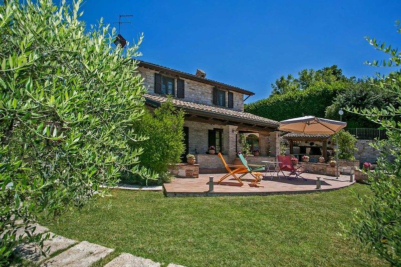 Villa privada con gran espacio al aire libre y vistas panorámicas