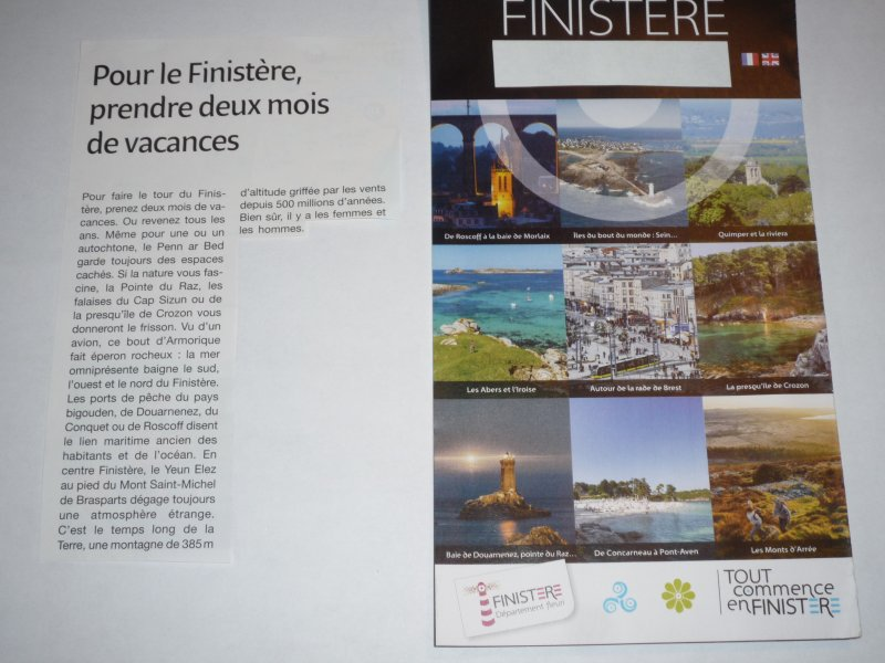 Take two holiday months to visit the Finistère