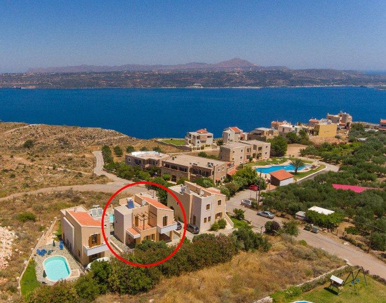 Vista aérea da Villa Konstantina
