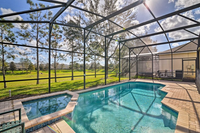 An ideal Disney retreat awaits at the closest resort to the parks when you stay in this luxurious Kissimmee vacation rental villa.