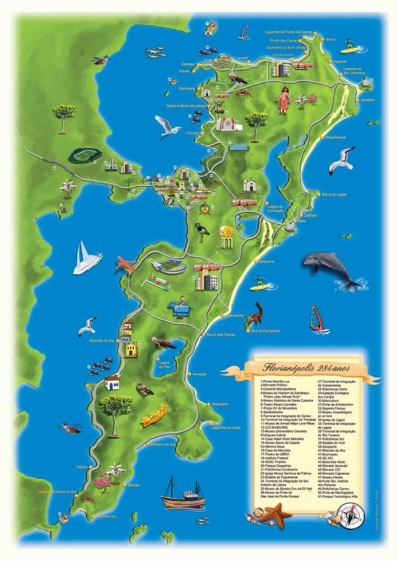 Mapa de la Isla. Ofrecemos una guía turística para los clientes en el registro
