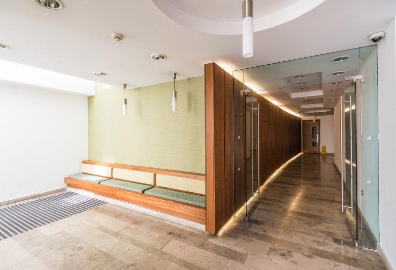 Apartment block entrance hallway