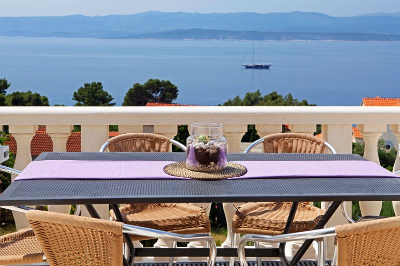 Toni 5 - Three bedrooms - amazing sea view terrace, holiday rental in Bol