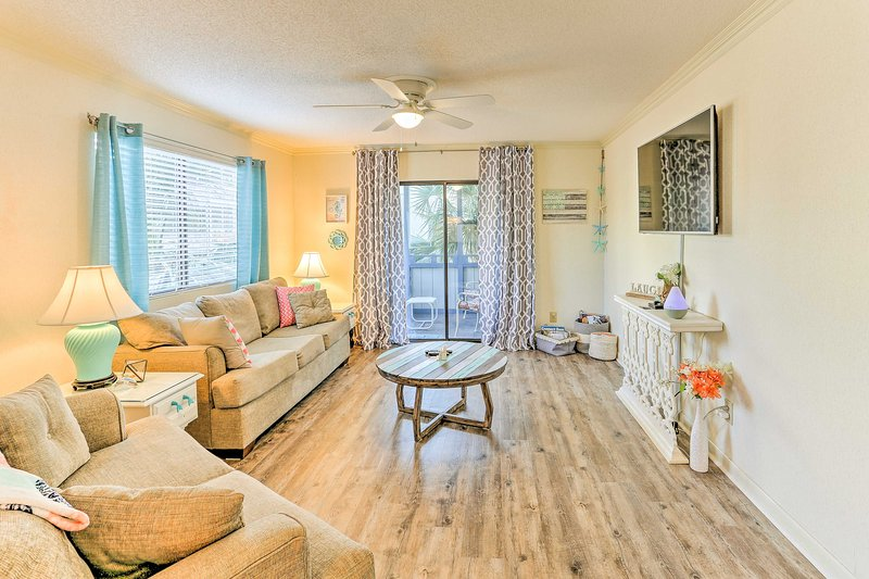 Experience the beach paradise of Myrtle Beach in this 2-bedroom, 2-bathroom vacation rental home for 7.