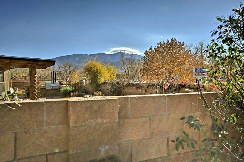Look out to beautiful mountain views from the backyard!