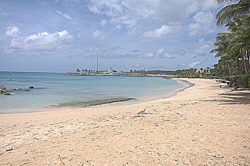 Turquoise wateren van onze west strand.
