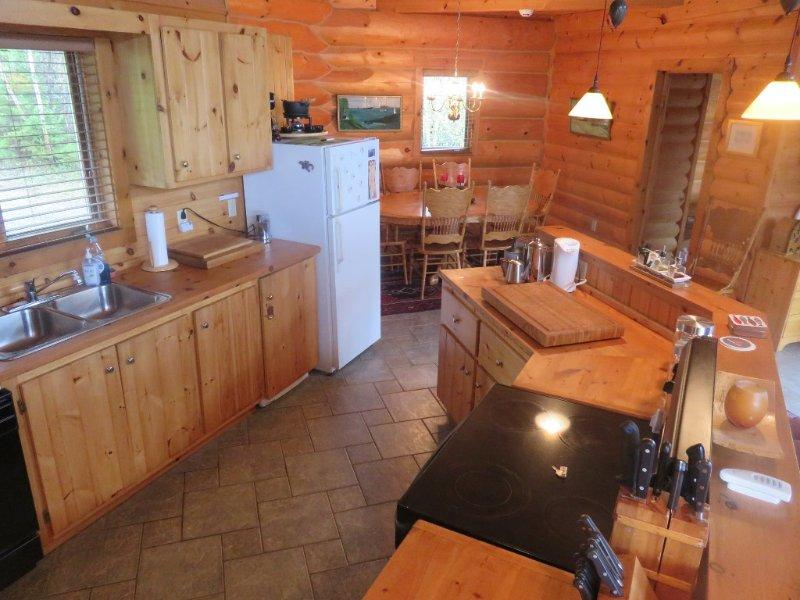 Cocina en Castaway Ocean Lodge