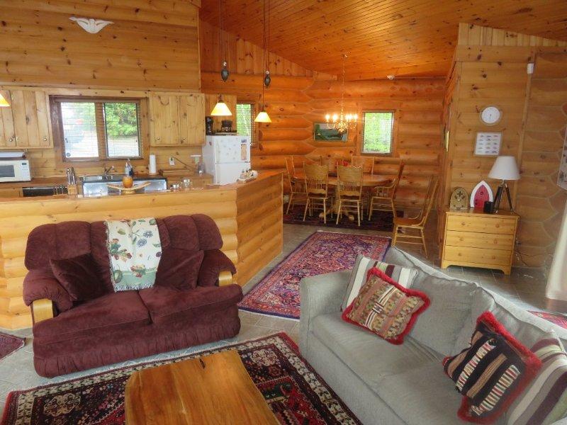 Abrir concepto de sala de estar, cocina y comedor