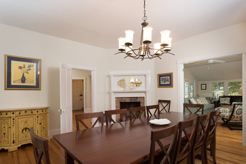 Dinning Room w/ Brand New Dinning Room Table Accommodating 10 People