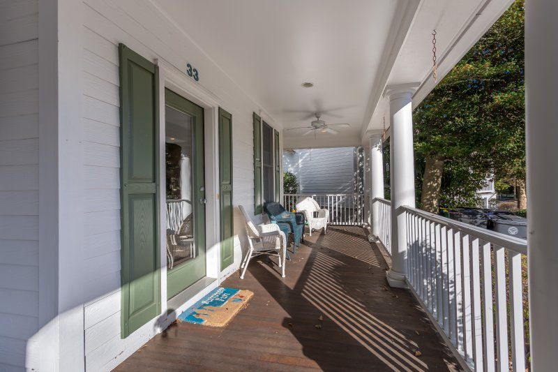 Shared Front Porch- Two Assigned Parking spots and two city parking passes Available