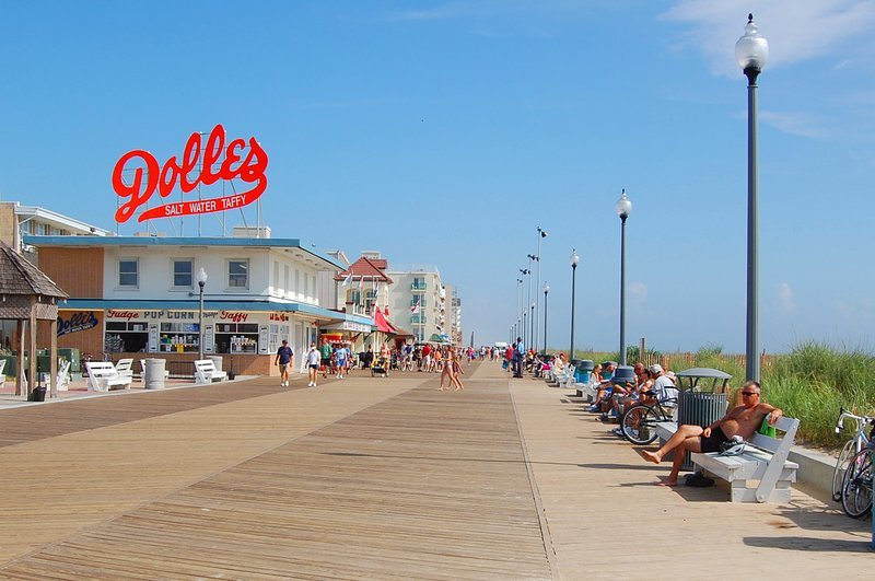 The end of the Rehoboth boardwalk is about a mile away and a free parking permit is provided.