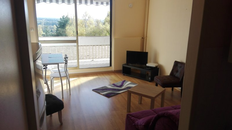 Amazing studio with balcony & Wifi, holiday rental in Bourre