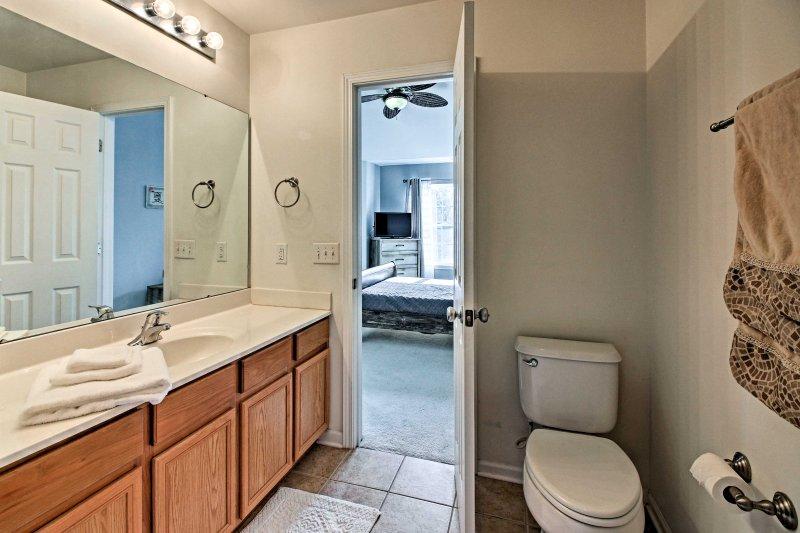 U zult genieten van het hebben van een eigen badkamer in deze kamer.