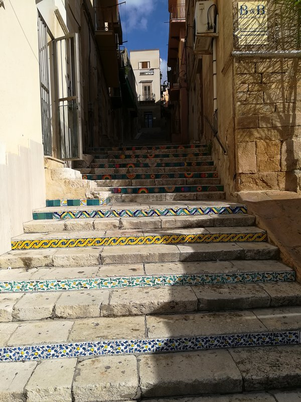 One of the stairways of the Historical Center