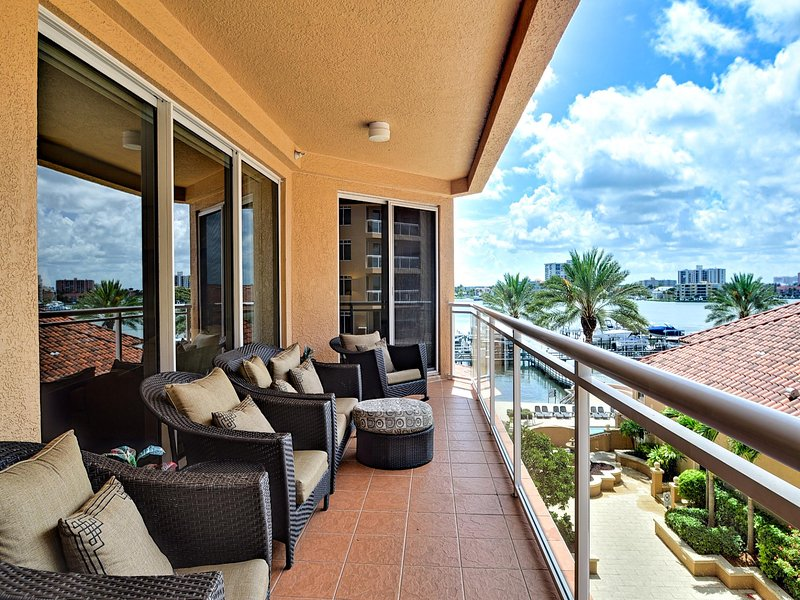An upscale vacation rental on Clearwater Beach island with water views