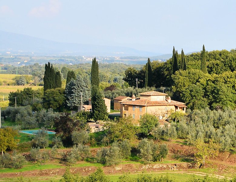 Bòggina, Petrolo winery.Exclusive farmstay with pool and garden.Walk to village., holiday rental in Mercatale Valdarno
