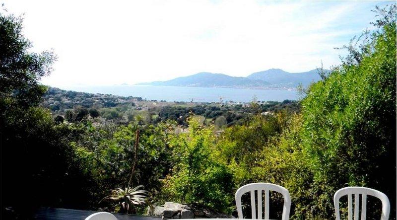 vue sur mer de la terrasse, magnifique , merveilleux