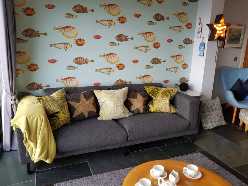 Languish among the fish in the lounge
