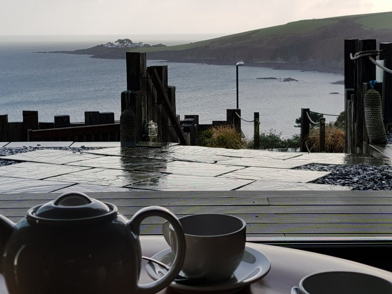 Tea with a view come rain or shine