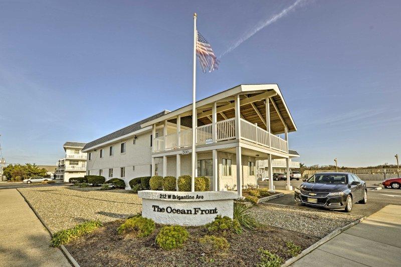 Seaside living awaits you at  this Brigantine vacation rental condo!