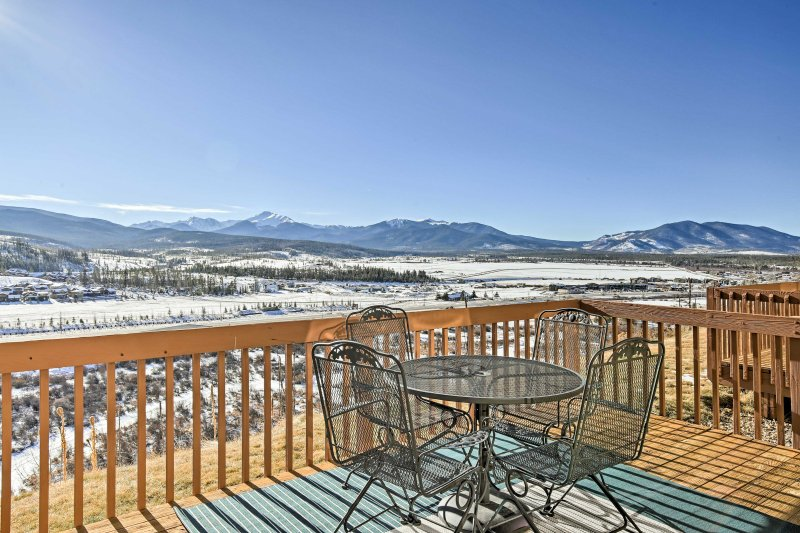 Enjoy spectacular mountain views right from the private back deck.