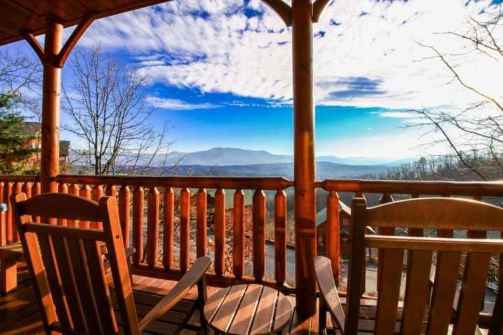 Long day of hiking, come back and rest in the hot tub on the balcony while enjoying your Smoky Mountain Views.