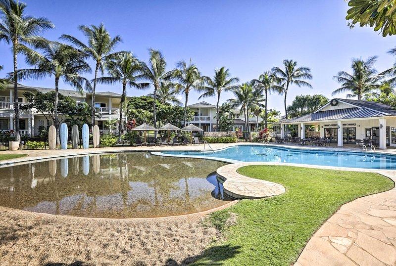 Échapper au paradis et séjour dans ce magnifique 2 chambres, 2 salles de bains location vacances condo à Kapolei.