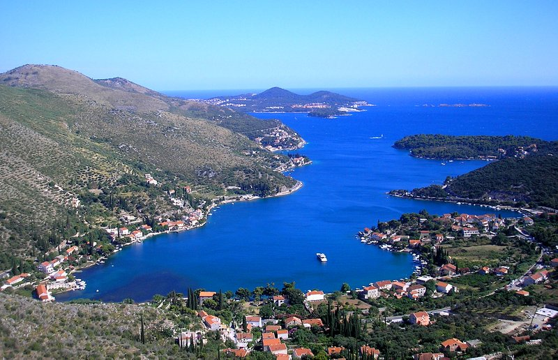 Zaton Bay in which the apartment is located, minutes from Dubrovnik