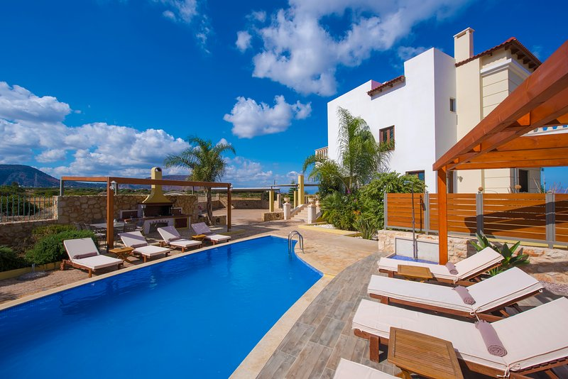 Sunshine Sea View Villa (private pool), holiday rental in Analipsi