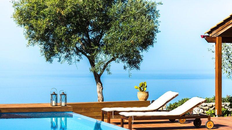 luxuriate Unique 'blue' views of the Cretan sea