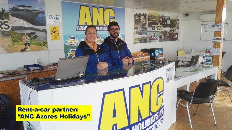 Rent-a-car partner: ANC Azores Holidays rent-a-car