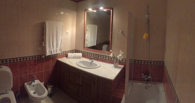terra bagno di famiglia al piano, doccia e WC