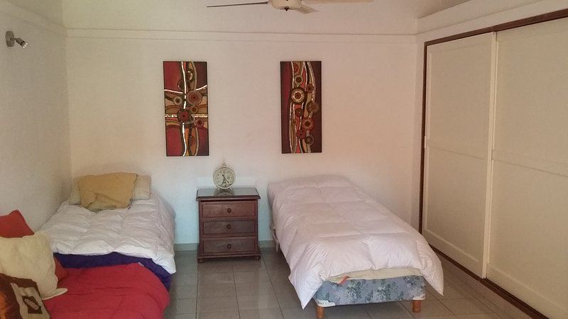 single or double beds with large closet