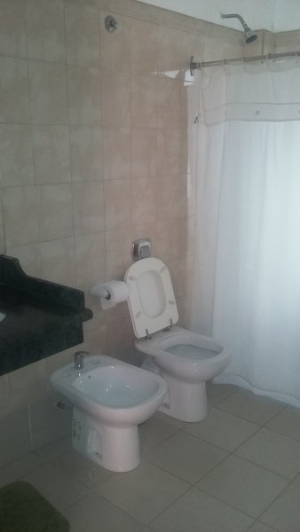 Spacious bathroom hot water 24 hours