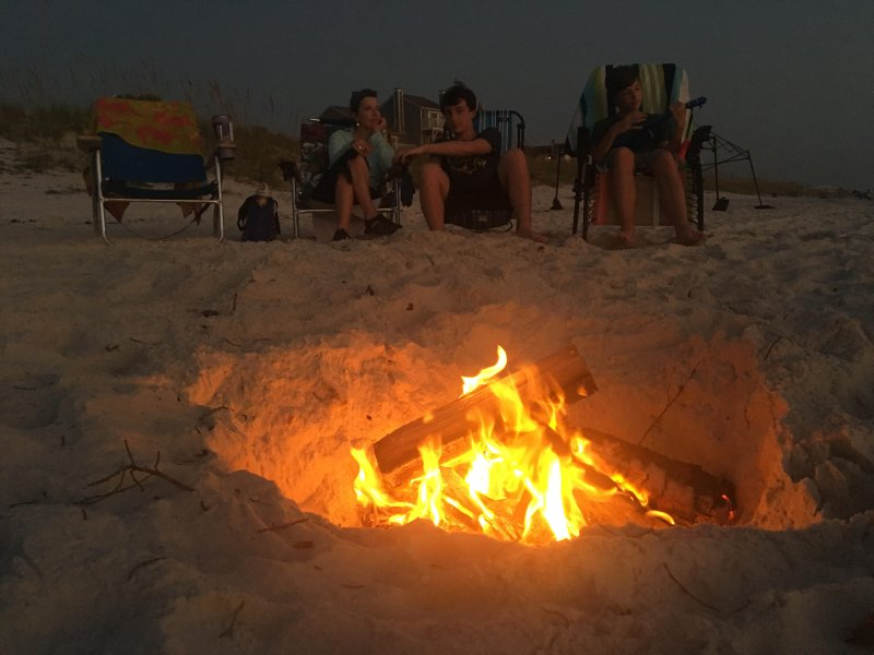 A Bonfire on the Beach is a Great Way to End the Day!