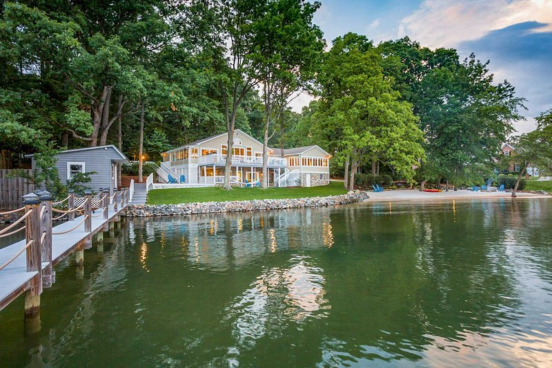 Let your worries float away on Lake Norman when you stay at this stunning vacation rental house in Mooresville!