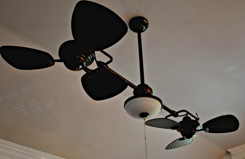 Ceiling fans in every room and also on screened porch and front porch. Southern Style.