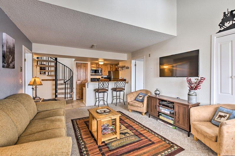 Plan your next alpine escape to this 3-bedroom, 2-bath vacation rental condo.