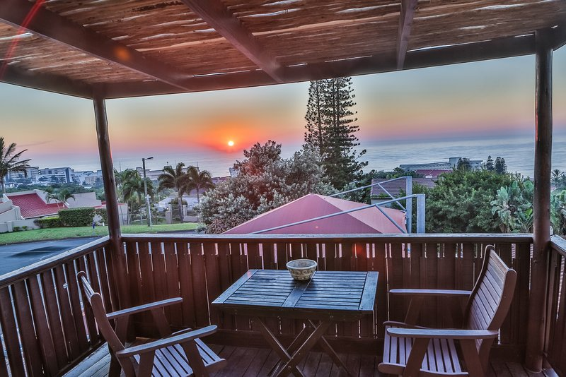 Sea views from your own private deck at sunrise.