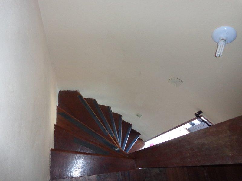 Escada vista do quarto
